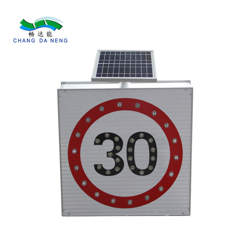Turkiye 5w Solar Traffic Signal Led Light Speed Limit Roadway Security Traffic Warning Sign