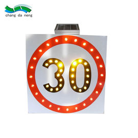 Waterproof solar traffic signal road safety sign led safety reflective aluminum signs